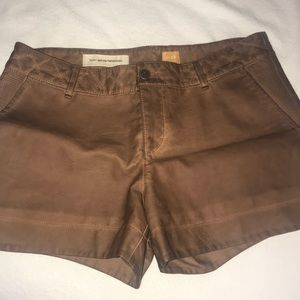 Anthropologie Faux Leather Shorts